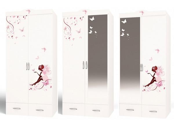 Детский шкаф 2-х дверный Фея со стразами SWAROVSKI ABC-KING