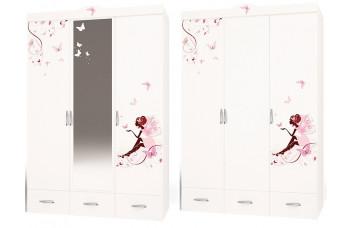 Детский шкаф 3-х дверный Фея со стразами SWAROVSKI ABC-KING