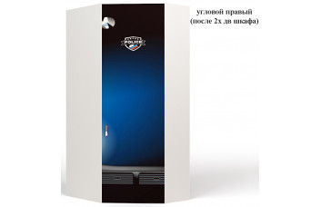 Шкаф угловой Police 1 к шкафу 2-х дверному ABC-King