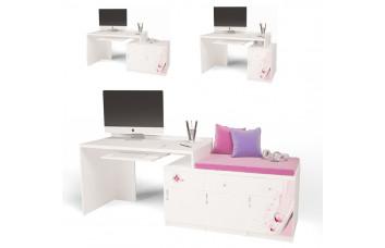 Детский стол модульный Г (без тумб) ABC Princess ABC-KING