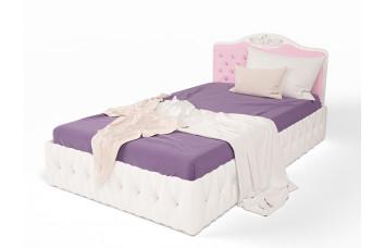 Детская Кровать ABC-KING Princess 190*120 со стразами сваровски подъемным механизмом и карет.стяжкой