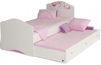 Кровать классика Фея с рисунком со стразами SWAROVSKI ABC-KING