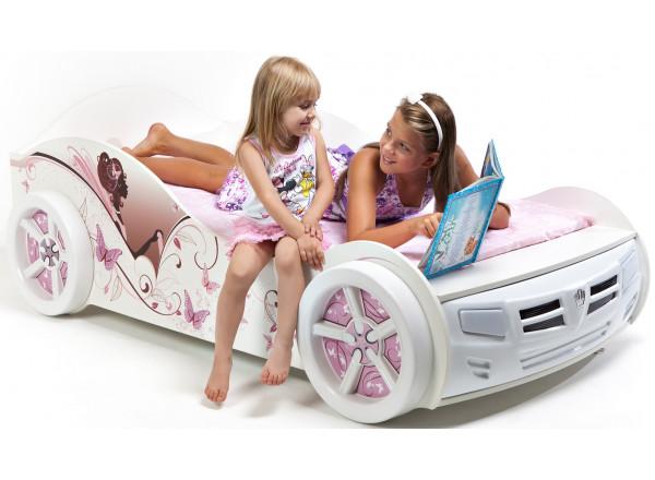 Кровать машина Фея Advesta со стразами SWAROVSKI ABC-KING