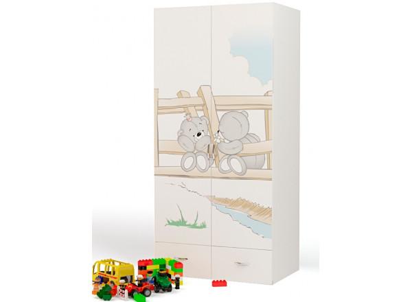 Детский шкаф 2-х дверный Bears ABC-King (Мишки)
