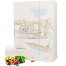 Детский шкаф 3-х дверный Bears ABC-King (Мишки)