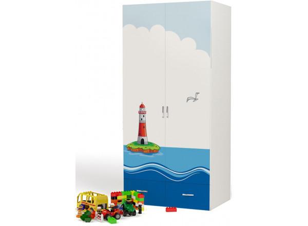 Детский шкаф 2-х дверный Ocean ABC-King