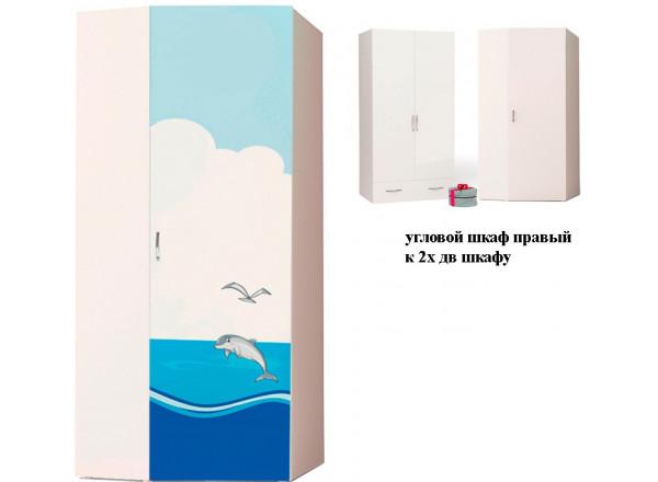 Детский шкаф угловой Ocean ABC-King