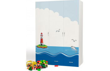 Детский шкаф 3-х дверный Ocean ABC-King