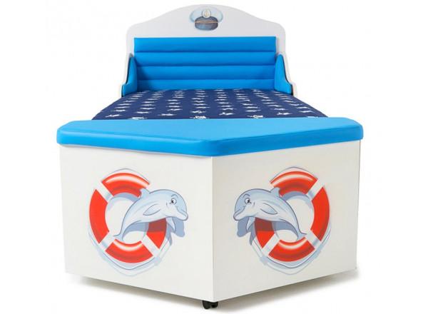 Детская кровать корабль Океан без ящика и носа Ocean ABC-King