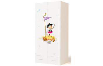 Детский шкаф 2-х дверный Pirates ABC-King (Пиратка)