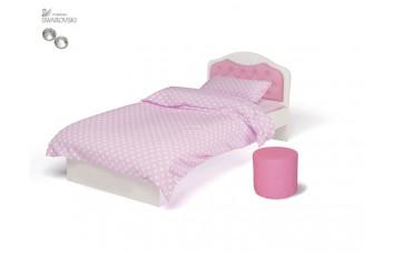 Детская кровать классика ABC-KING Princess №1 со стразами SWAROVSKI