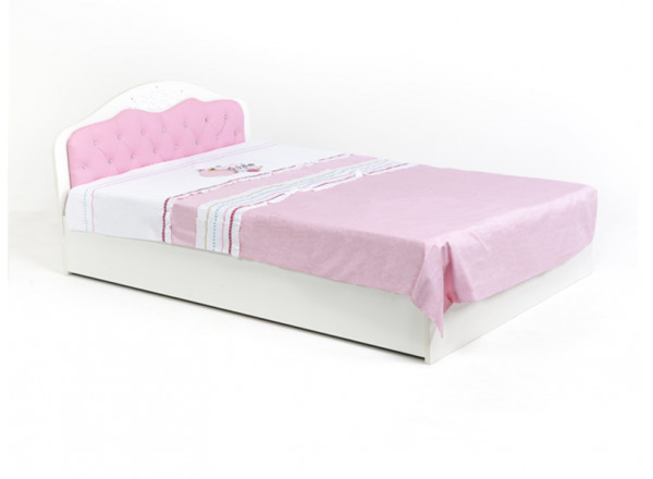 Кровать классика ABC-KING Princess 140Х190 со стразами SWAROVSKI