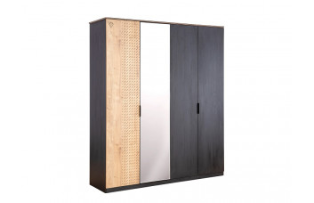 Шкаф 4х дверный 1005 BLACK Cilek