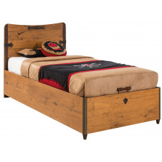 Детская кровать с подъемным механизмом (без матраса), матрас 90х190см CILEK BLACK PIRATE 1705