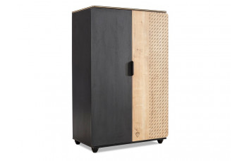 Black 1502 шкаф двухдверный низкий CILEK