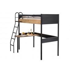 Black 1402 Кровать-чердак со столом CILEK