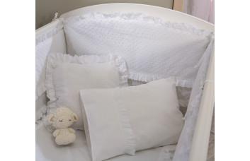 Комплект постельных принадлежностей для кроватки White Baby 4162  (70x130 см)