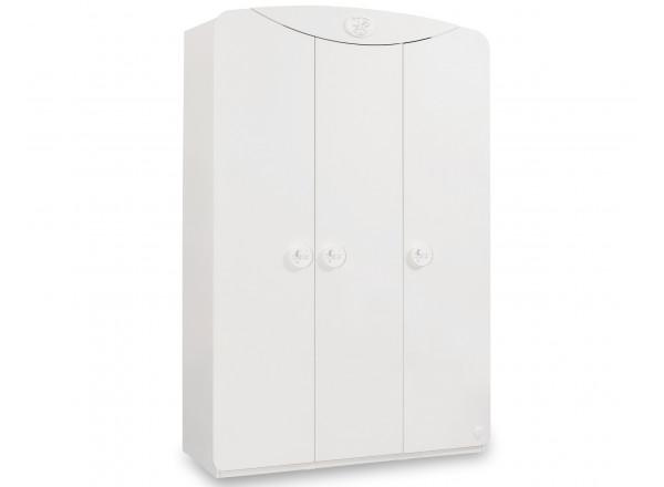 Baby Cotton 1002 трехдверный шкаф с окном CILEK