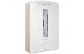 Baby Cotton 1003 трехдверный шкаф с окном CILEK