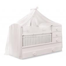 Baby Cotton SL Кровать-трансформер, 1015 сп. м. 80х131/80х177 CILEK