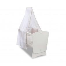 Кроватка-колыбель Star с балдахином и постельным бельем 1007, сп.м. 45х90 CILEK