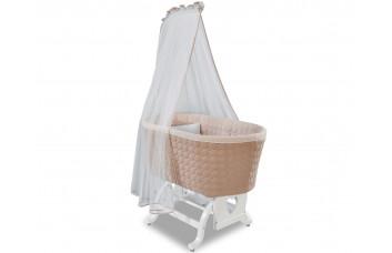 Кроватка-колыбель Bassinet 4802 с балдахином, одеялом и подушкой, сп.м. 45х80 CILEK
