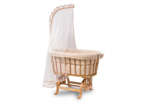 Кроватка-колыбель  4804 с балдахином, одеялом и подушкой, сп.м. 45х80 CILEK
