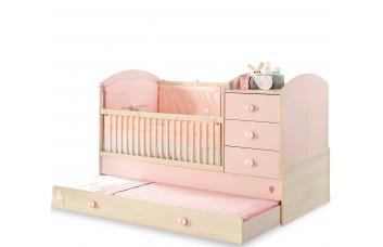 Детская кровать-трансформер BABY GIRL 1015, сп. м. 80x180 CILEK