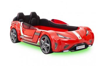 Carbed Кровать-машина 1350 GTS, красная сп. м. 100х190 CILEK