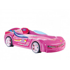 Carbed Кровать-машина BiTurbo 1337, розовая CILEK