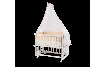 Детская кроватка Серенити c балдахином и пост. принадлежностями, 4805 (50x90 см) CILEK