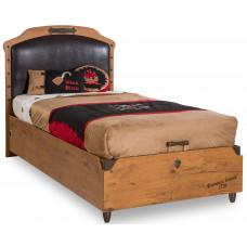 Детская кровать с подъемным механизмом (без матраса), матрас 100х200см CILEK BLACK PIRATE KS-1706