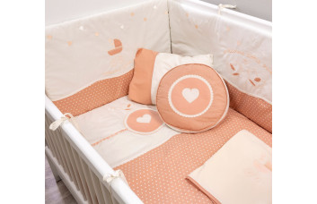 Комплект постельных принадлежностей с бортами для кровати Romantic Baby 4158 (80x130 см)