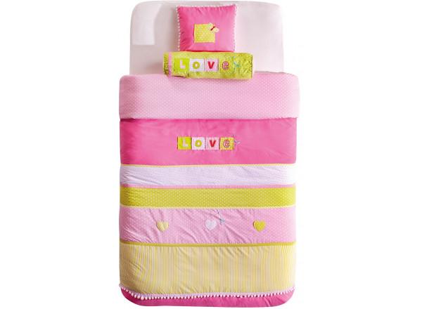 AKS-4453 Комплект Love (покрывало 145x230 см, 2 декоративные подушки)