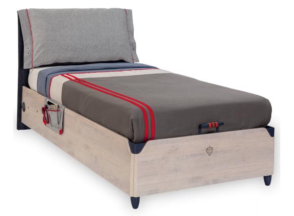 TRIO T-1705 кровать с подъемной базой, под матрас 100х200  CILEK