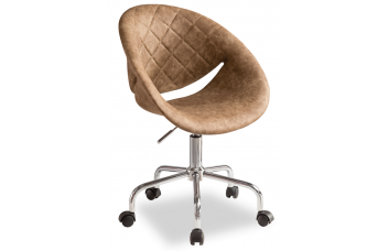 Кресло Relax 8484, на роликах, цвет коричневый CILEK