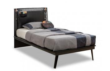 Кровать LINE Dark Metal, 100x200