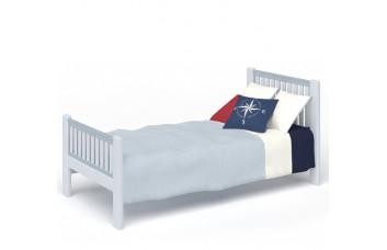 Кровать Белый Кит с изголовьем CLEVEROOM