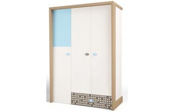 Детский шкаф 3-х дверный MIX Голубой ABC-King