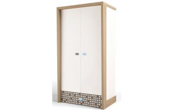 Детский шкаф 2-х дверный MIX Голубой ABC-King