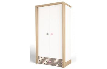 Детский шкаф 2-х дверный MIX Розовый ABC-King