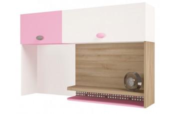 Надстройка на стол/навесная полка MIX Розовый  ABC-King