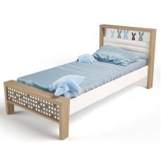 Детская кровать №1 MIX Bunny Голубой ABC-King