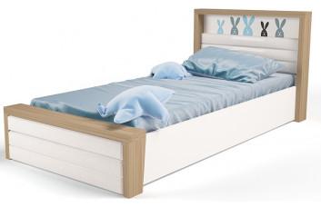 Детская кровать №6 MIX Bunny Голубой с под.механизмом ABC-King