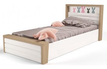 Детская кровать №6 MIX Bunny Розовый с под.механизмом ABC-King