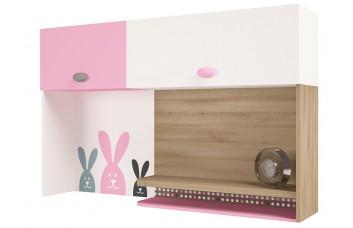 Надстройка на стол/навесная полка MIX Bunny Розовый  ABC-King
