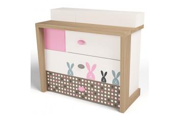 Детский комод MIX Розовый Bunny ABC-King