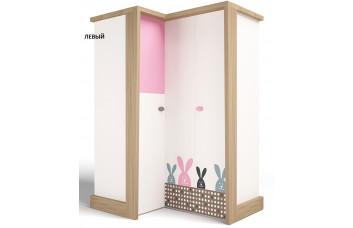 Детский шкаф угловой MIX Bunny Розовый ABC-King