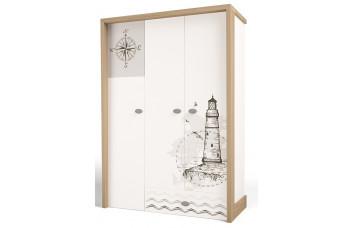 Детский шкаф 3-х дверный MIX Ocean ABC-King