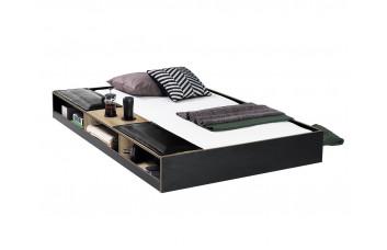 Black Кровать выдвижная с полочками, сп. м. 90х190 Cilek